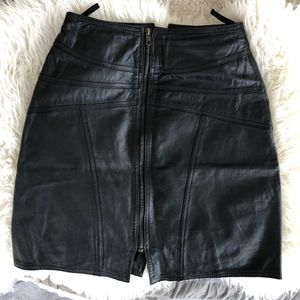 G-III Skirts - G-III Vintage Leather Punk Rock Skirt